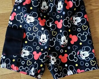 Mickey Mouse fabric shorts