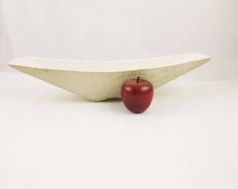 Vintage 1950s Shawnee Pottery 'Elegance' - Console Bowl - Planter - Mid Century Modern 1417 - Metallic Basketweave Finish