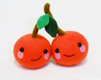 Plush cherry couple pair toy