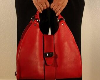 Leather Handbag / Top Handles Bag / Luxury Bags / Shoulder Bags