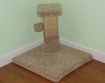 """Cat Scratcher-16"""" High Scratch Post w/ Tightly Wound Sisal Rope. Keeps Your Cats Nails Healthy and Your Furniture From Being Torn to Shreds."""