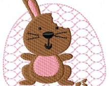 Cute Chocolate Bunny, Easter, Digitized Embroidery Design