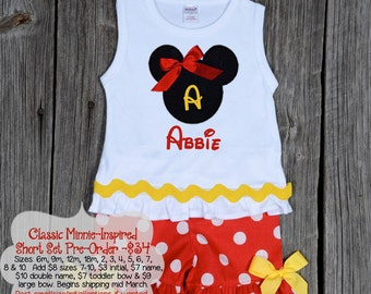 Classic Minnie-Inspired Short Set