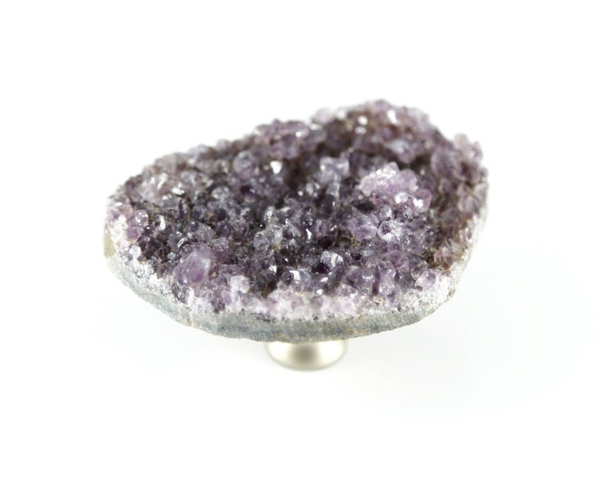 Light Amethyst Knob--Light Amethyst Dresser Knob-- LARGE  AMETHYST KNOB