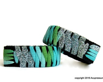 Designer Motion Sickness Bracelets for nausea, anxiety, vertigo. Turquoise Tradewinds