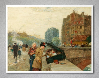 St. Michel by Childe Hassam  - Poster Paper, Sticker or Canvas Print