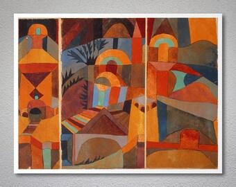 Il Giardino del Tempio by Paul Klee - Poster Paper, Sticker or Canvas Print
