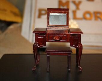 Petite Vintage Miniature Vanity
