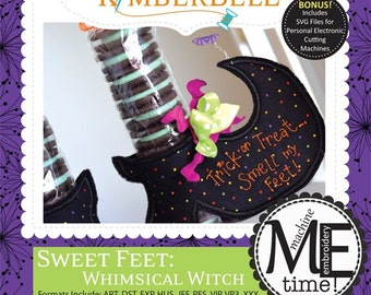 Kimberbell CD - Sweet Feet: Whimsical Witch (KD601) - Kimberbell machine embroidery / SVG