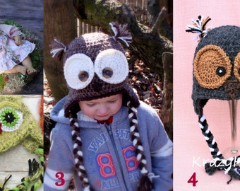Crochet owl hat.Ready to ship owl hat.