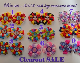 Character Hairbow sets.  Great Stocking stuffer!