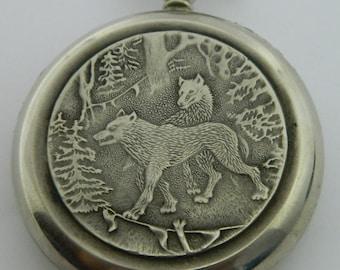 USSR Russian Pocket watch Molnija Molnia Wolves #606S
