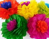 Tissue Paper Fiesta Flowers - Set of 10 flowers Decor//Birthdays//Fiesta//Mexico//Parties//Cinco de Mayo