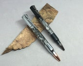 Steampunk Bolt Action Pen with Gunmetal, chrome or Black Hardware