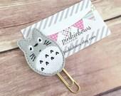 Grey/Gold/Totoro/Applique Paper Clip/Journal Marker/Planner Clip/Bookmark