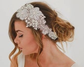 End of Line 50% Amelia - Pearl Silk Crystal Hairpiece