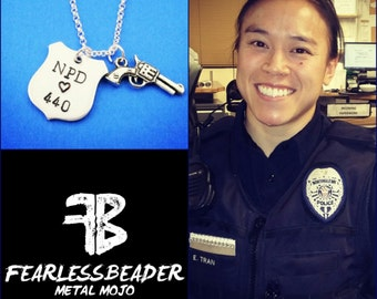 Custom Police Badge Necklace, Fearless Cop, Female Officer, Police Badge Necklace, Police Woman, Personalized Police Badge, Cop, Role Model