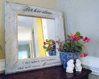 Rustic Farmhouse Mirror Nursery Mirror Nursery Wall Decor
