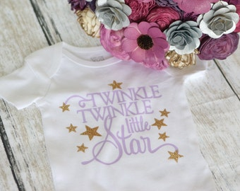 Twinkle Twinkle Little Star Onesie / Bodysuit or T Shirt Great for Birthdays or Parties