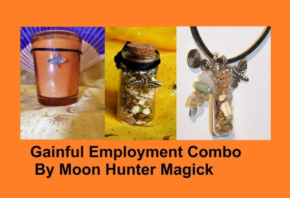 Gainful Employment Combo Kit Get A Job Ritual Employment Ritual Kit