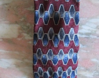 Vintage Men's Silk Necktie 1970's by Albert Nippon
