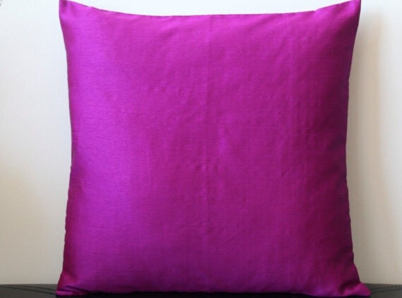 Solid Purple Decorative Pillows : Purple Pink Pillow Solid Pillow Purple Pink Throw Pillow