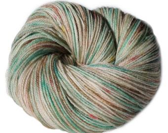 Watercolors (OOAK) - Hand Dyed, Hand Painted Panda Sock Yarn (superwash merino, bamboo, nylon) 4oz/113g/450yrds