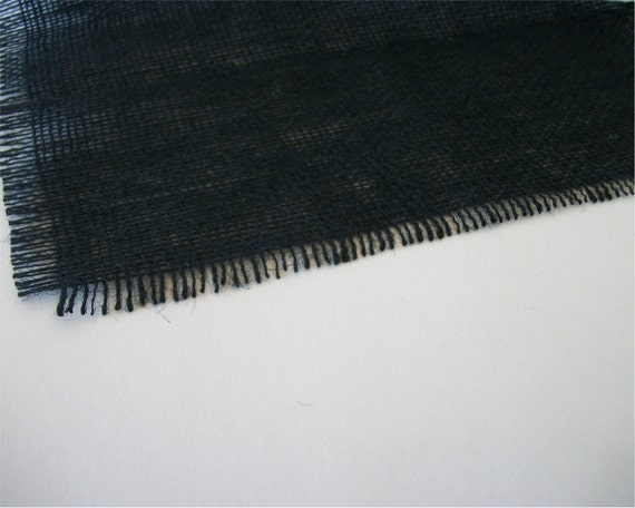 3 foot black burlap table runner 12 inches by for 12 ft table runner