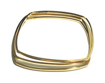 3 Square Bracelet Set, Wire Bracelet, Gold Bangle