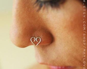 NOSE Cuff, Faux Nose Ring, Nostril Jewelry, Gold Nose Hoop, Faux nose piercing, Delicate Faux Nose Ring, Ethnic Nose Ring