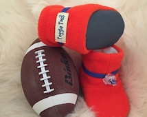 NFL, Denver Broncos, University of Florida, University of Illinois ,soft sole shoe, toddler size 12-24 months or baby shoe size 4-6