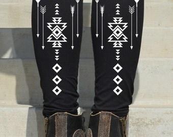 arrow printed Leggings - (6-501)