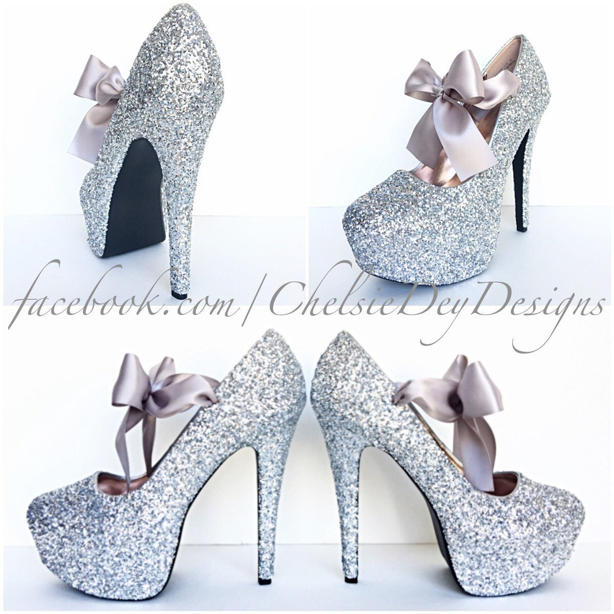 silver glitter high heels grey gray pumps prom heels. Black Bedroom Furniture Sets. Home Design Ideas