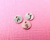 Add on hand stamped initial charm