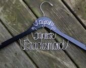 BUY 2 - Get 1 FREE -- Junior Bridesmaid Hanger WITH Name