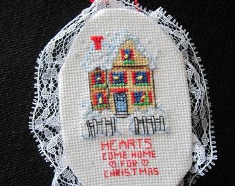 Hearts Come Home for Christmas Christmas Tree Ornament