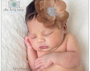 Newborn Baby Girl Sequin Flower Headband