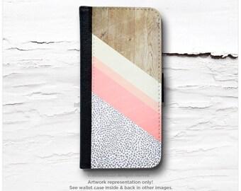 iPhone 6S Case Wallet, iPhone 6 Wallet Case Wood Print, Wallet iPhone 6s Case, Polka iPhone 6 Wallet Case, iPhone 6S Flip Wallet Case T22