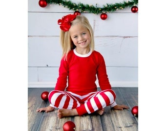 Items similar to First Christmas Pajamas - Monogram Pajamas - Butt ...