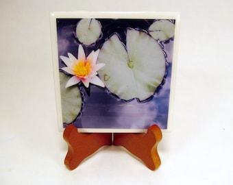 Lily and Pads Handmade Photo Coaster FI0136