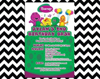 Barney and Friends Digital Invitation