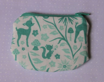 Little Zipper pouch, coin purse Squirrel