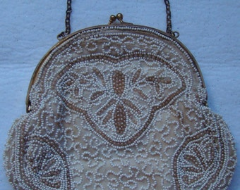 Vintage Beaded Clutch Purse # 13032009