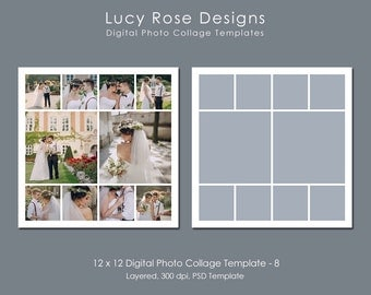 12 x 12 Photo Collage Template - 8