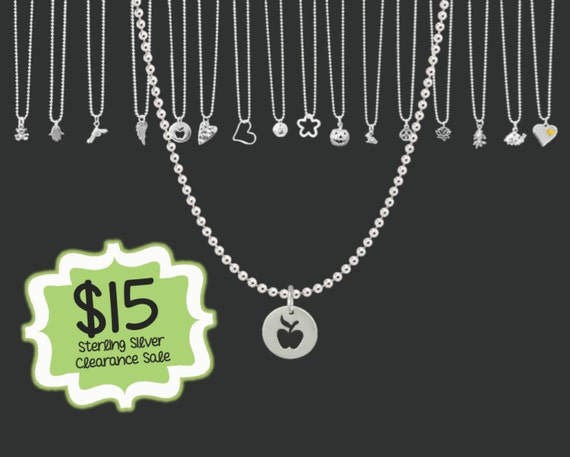 CLEARANCE SALE | Teacher Gift | Tiny Apple Necklace | Minimalist Necklace | Tiny Sterling Necklace | Layering Necklace | Korena Loves