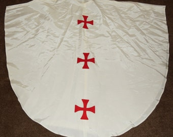 Vintage Taffeta Alter Boy Robe with Templar Crosses