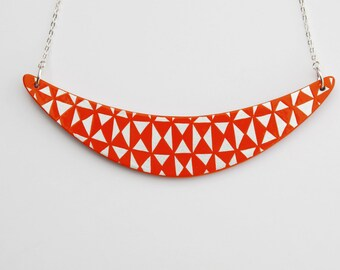 BOOMERANG Necklace Tangerine