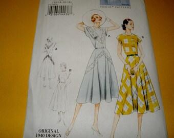 Vogue 8811 1940s Reissue Dress Pattern Uncut sizes 12 to 18