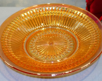 Anniversary by Jeannette Iridized Marigold Carnival Soup Bowl