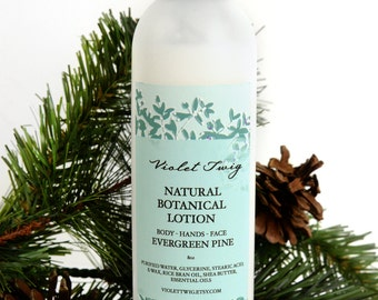 Body Lotion - Evergreen Pine Lotion - Natural Lotion - Body Lotion - Vegan Lotion - Pine Scented Lotion - Pine Essential Oil - Face Lotion